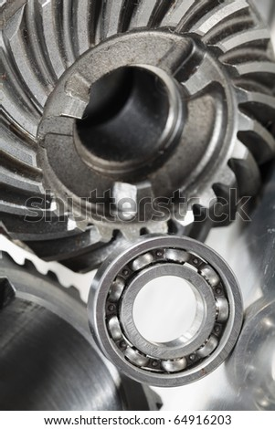 ball-bearing and gears concept - stock photo