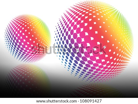 ball 3d abstract backgrounds - stock photo