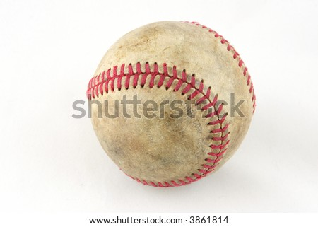 ball for game in baseball - stock photo