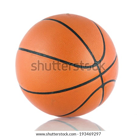 Ball for the game in basketball isolate on over white background - stock photo