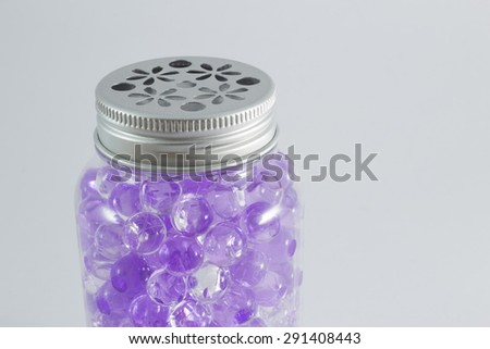 Ball gel in the bottle, Aroma Beads. - stock photo