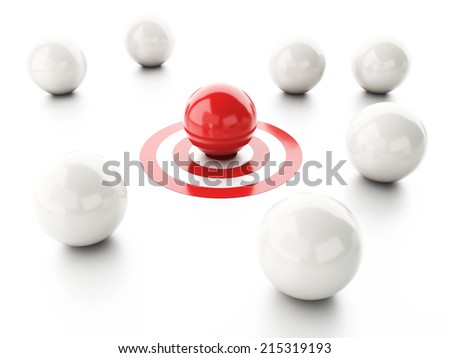 ball on target. business leadership success concept - stock photo