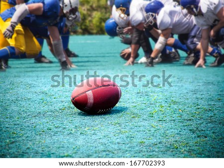 ball rugby, American football, sports background - stock photo