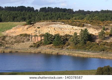 Ballarat East Goldmine - place where Victoria's first gold rush began (1851) - stock photo