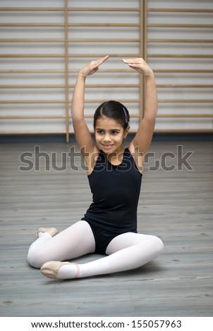 Ballerina posing  - stock photo