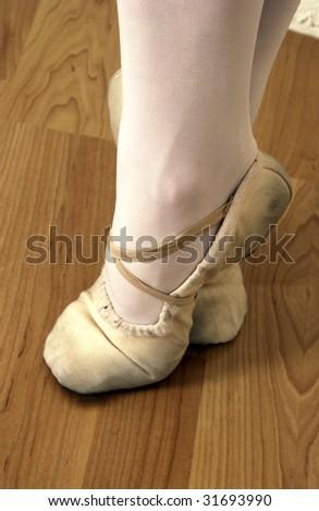 Ballerina shoes - stock photo