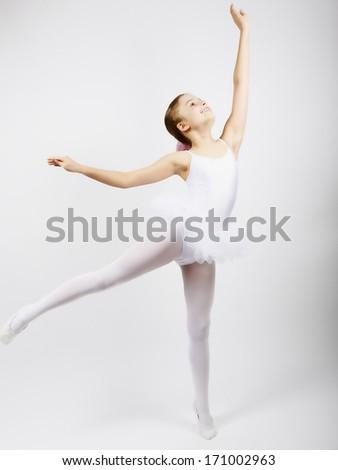 Ballet, ballerina - young and beautiful ballet dancer - stock photo