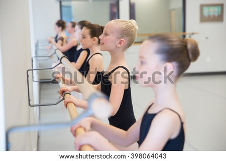 Ballet Class for children - stock photo