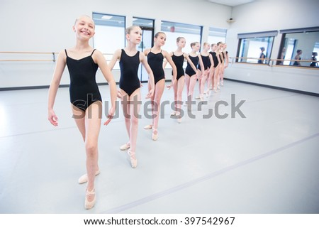 Ballet Dance Class - stock photo