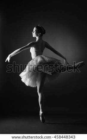 """ballet dancer of Opera and ballet in a tutu from the ballet """"don Quixote"""" - stock photo"""