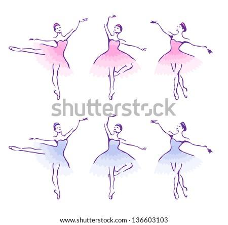 Ballet woman-dancers. - stock photo