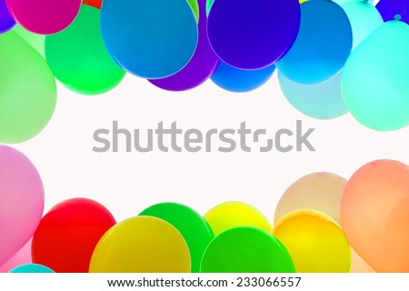 ballon for party, birthday, colorful, color. - stock photo