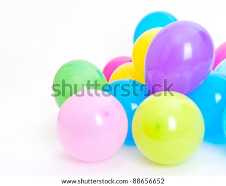 Ballons on the white background - stock photo
