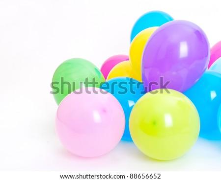 Ballons on the white background - stock photo