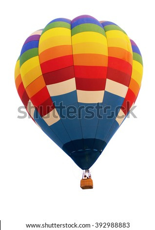 balloon hot air. Isolated on white. with clipping paths. - stock photo