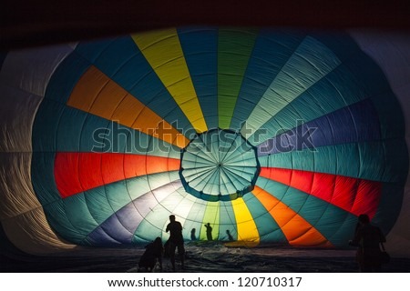 Balloon inside - stock photo
