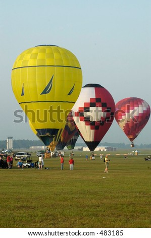 balloon three - stock photo