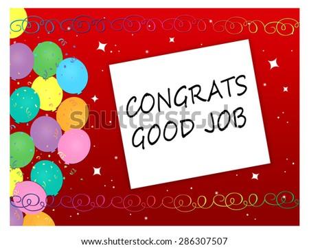 Balloons - Congrats, Good Job - stock photo