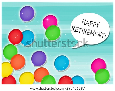 Balloons - Happy Retirement! - stock photo