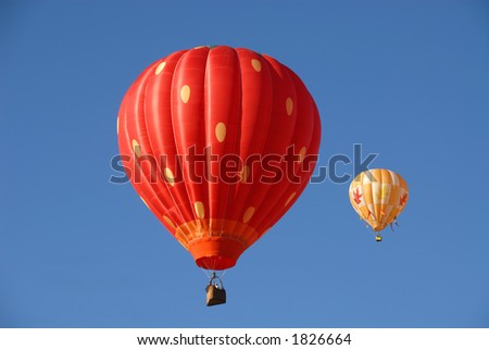 Balloons in flight, Reno, Nevada - stock photo