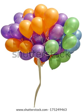 balloons isolated on white(clipping path) - stock photo