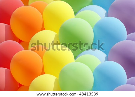 Balloons showing splendid colors - stock photo