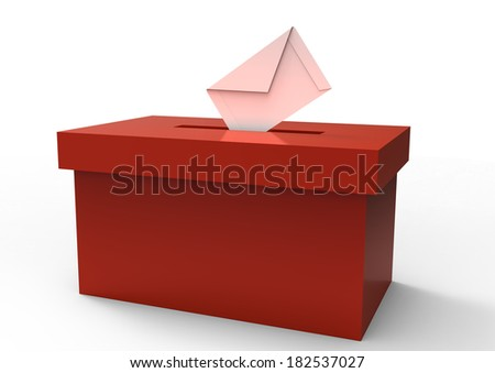 ballot box - stock photo