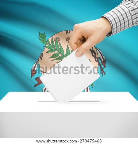 Ballot box with US state flag on background series - Oklahoma - stock photo