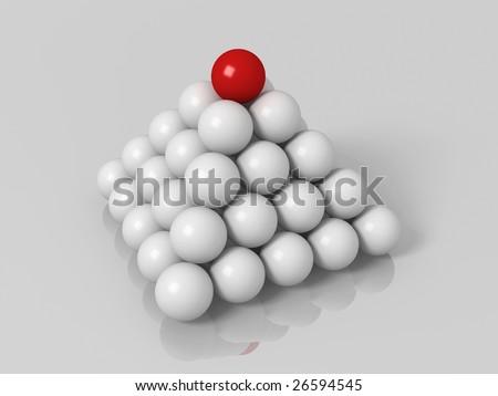 Balls pyramid - stock photo