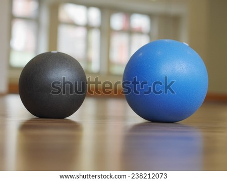 balls stability and toning pilates sport gym - stock photo