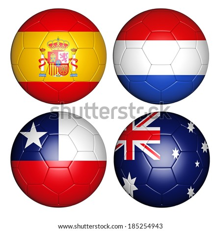 balls with flags - stock photo