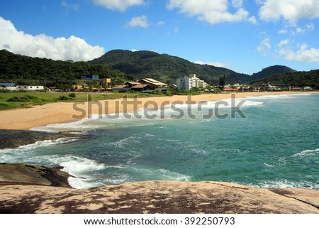 Balneario Camboriu - Brazil - Ilhota Beach - stock photo