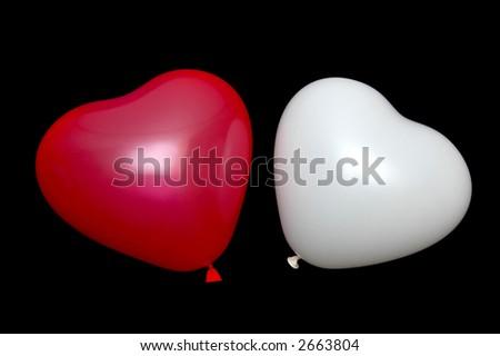 Baloon couple - stock photo