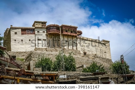 Balti ( Baltit ) Fort - an ancient fort in the Hunza valley in Gilgit, Baltistan, Pakistan - stock photo