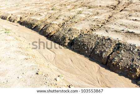 Baltic coast with eroded beach and landslide after The heavens opened - stock photo