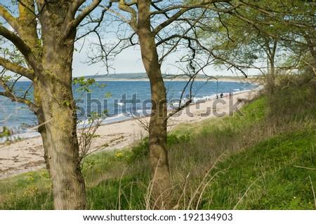 Baltic Sea coast line - stock photo