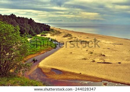 Baltic Sea, Latvia - stock photo
