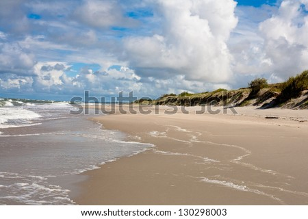 Baltic sea near Curonian Spit - stock photo