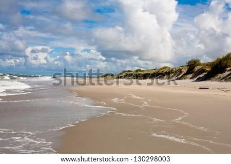 Baltic sea near Curonian Spit - stock photo
