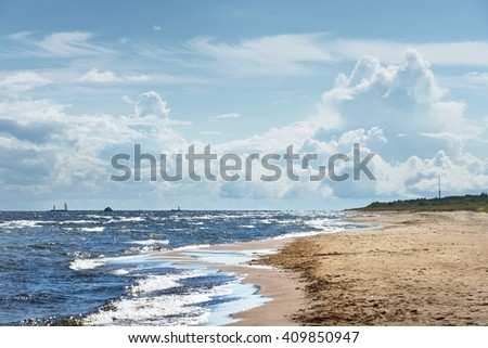 Baltic sea shore - stock photo