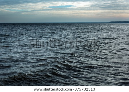 Baltic sea surface in windy day. - stock photo