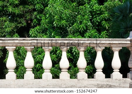 balustrade - stock photo
