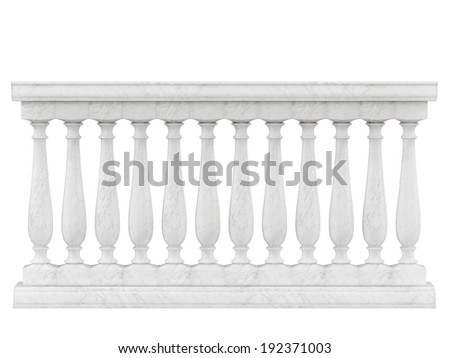Balustrade Pillars Isolated on White background - stock photo