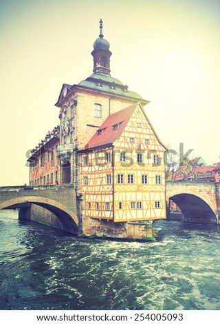 Bamberg, Germany.  Instagram style filtred image - stock photo