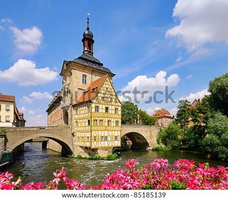 Bamberg townhall - stock photo