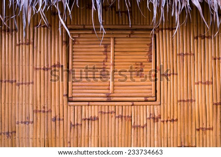 bamboo and window background - stock photo