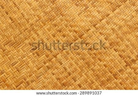 Bamboo craft texture background - stock photo