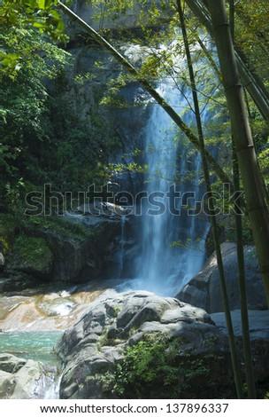 Bamboo Falls - stock photo