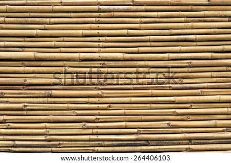 bamboo fence background texture - stock photo