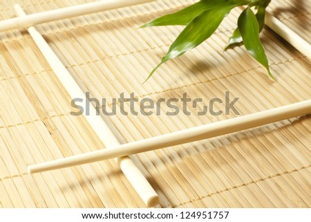 Bamboo mat abstract background - stock photo